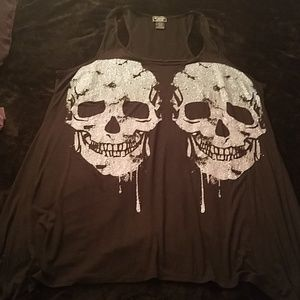 NWOT Blue and Purple Skull Tank